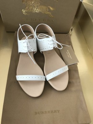 Burberry London Strapped Sandals white leather
