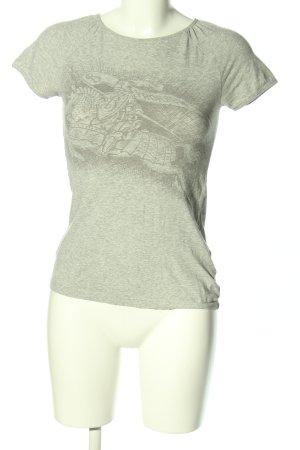 Burberry London T-shirt kaki moucheté style décontracté