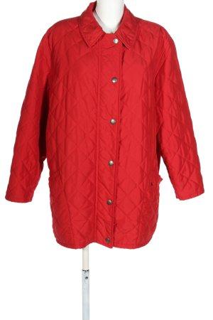 Burberry London Veste mi-saison rouge motif de courtepointe style décontracté
