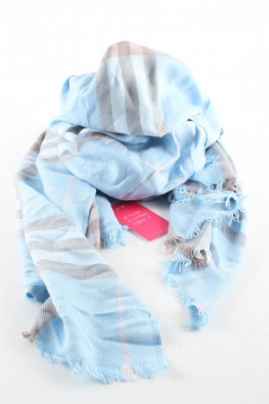 Burberry London Wollschal blau-hellgrau Karomuster Casual-Look