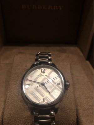 Burberry Zegarek analogowy srebrny
