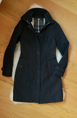 Burberry Quilted Coat black-grey