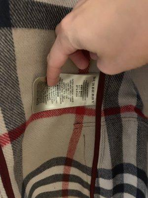 Burberry Manteau à capuche bordeau-rouge carmin