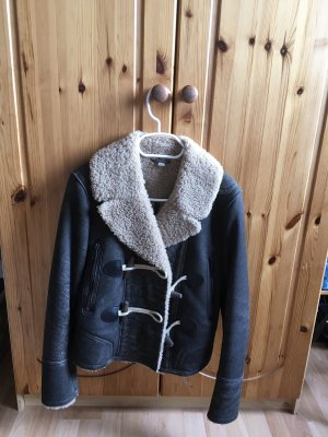 Burberry Leather Coat multicolored mohair