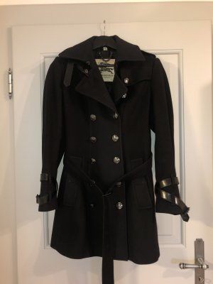 Burberry Wool Coat dark blue-black wool