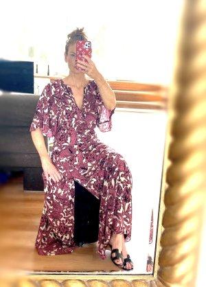 Burberry Sukienka maxi biały-głęboka czerwień