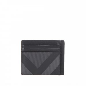 Burberry Mega Check Coated Canvas Card Holder