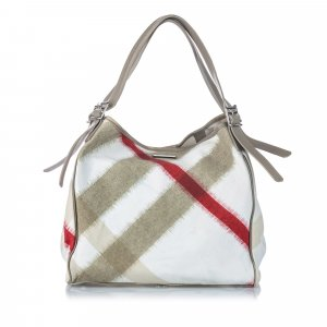 Burberry Mega Check Nylon Buckleigh Tote Bag