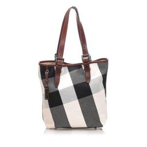 Burberry Mega Check Wool Tote Bag
