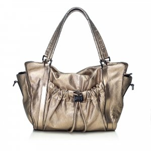 Burberry Satchel gold-colored leather