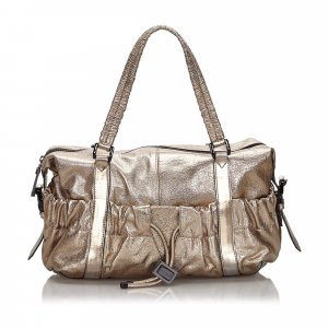 Burberry Metallic Leather Shoulder Bag