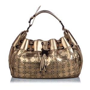 Burberry Metallic Leather Warrior Shoulder Bag