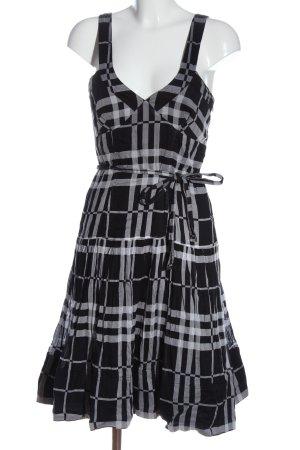 Burberry Midi Dress black-white check pattern casual look