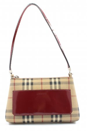 Burberry Minitasche creme-rot Karomuster Business-Look