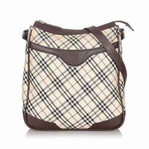 Burberry Nova Check Canvas Crossbody Bag