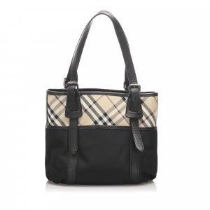 Burberry Nova Check Nylon Handbag