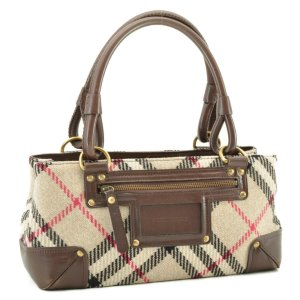 Burberry Shoulder Bag brown wool