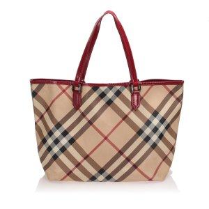 Burberry Nova Check Tote Bag