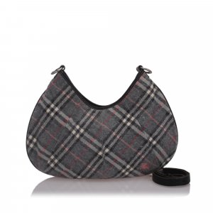 Burberry Nova Check Woold Hobo Bag