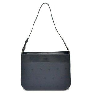 Burberry Sac porté épaule noir fibre textile