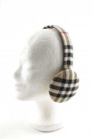 Burberry Earmuff check pattern casual look