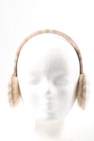 Burberry Cache-oreilles blanc cassé moucheté style décontracté