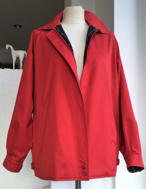 * BURBERRY *  Outdoor Jacke Anorak  rot Baumwolle Polyester - VINTAGE - UK 14 D 40 42 L XL