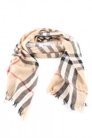 Burberry Pashmina check pattern casual look