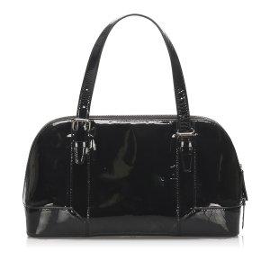 Burberry Patent Leather Shoulder Bag
