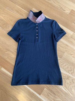 Burberry Camiseta tipo polo azul oscuro