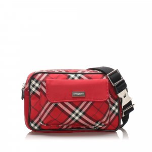 Burberry Plaid Canvas Belt Bag