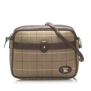 Burberry Plaid Canvas Crossbody Bag