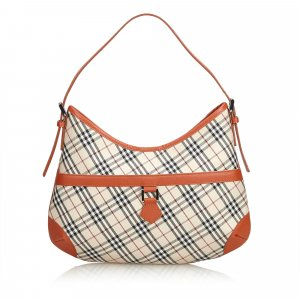 Burberry Plaid Nylon Shoulder Bag