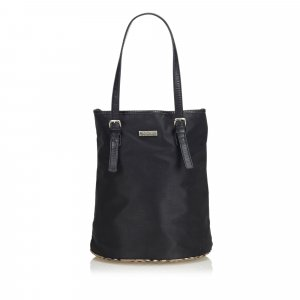 Burberry Plaid Nylon Tote Bag