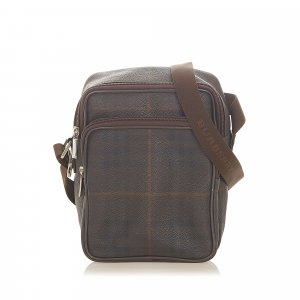 Burberry Plaid PVC Crossbody Bag