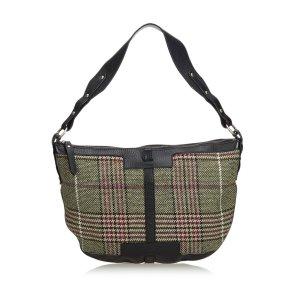 Burberry Shoulder Bag dark green mixture fibre