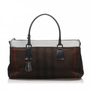 Burberry Plaid Wool Handbag