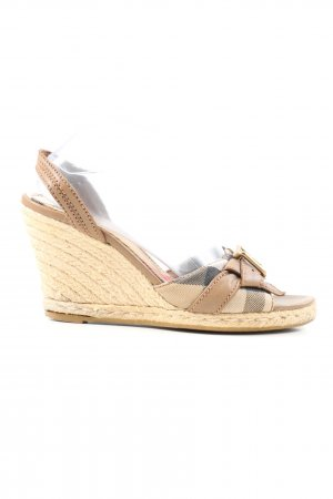 Burberry Platform Sandals cream-natural white casual look