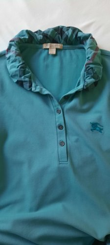 Burberry London Koszulka polo petrol-morski