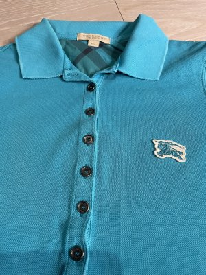Burberry Brit Polo Shirt turquoise cotton