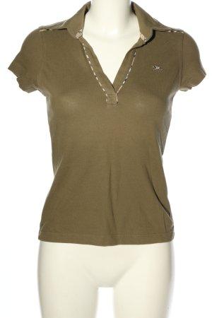 Burberry Koszulka polo khaki Wyhaftowany logo W stylu casual