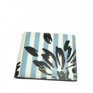 Burberry Printed Bi-Fold Leather Small Wallet