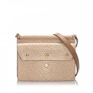 Burberry Printed Leather Baby Title Crossbody Bag