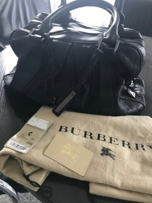 Burberry Prorsum Bowling Bag black leather