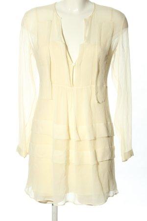 Burberry Prorsum Sukienka z długim rękawem w kolorze białej wełny
