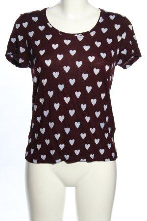 Burberry Prorsum T-shirt imprimé brun-gris clair imprimé allover