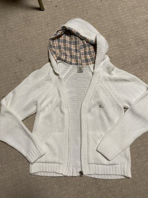 Burberry London Maglione con cappuccio bianco