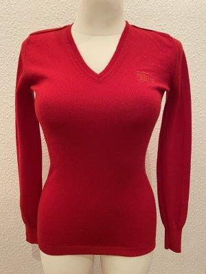 Burberry Wełniany sweter czerwony