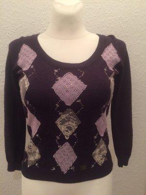 Burberry Maglione di lana marrone-viola