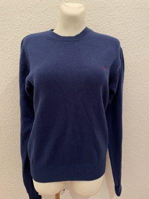 Burberry Pull en laine bleu foncé
